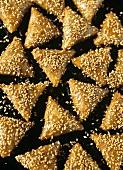 Peanut briouats with sesame seeds (Morocco)
