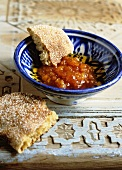 Quince jam with Moroccan bread