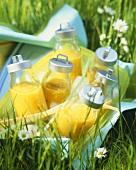 Orange juice for a picnic