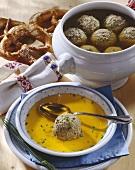 Liver dumpling soup from Bavaria