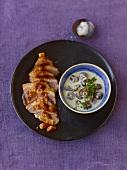 Roast duck with chestnuts in béchamel sauce