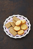 Oat crackers and orange biscuits (UK)