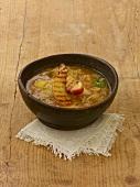 Sauerkraut soup with apple