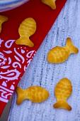 Fish-shaped crackers