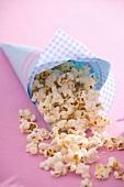 A cone of popcorn
