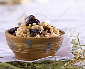 Wheat dessert with honey and dried fruit (Poland)