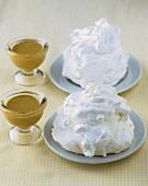 Baisertörtchen und Kaffeecreme