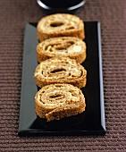 Crêpe rolls filled with goose rillette