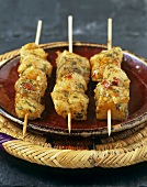 Fish kebabs with herbs