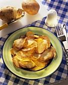 Home-made potato crisps