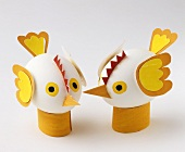 Easter chicks made from eggs