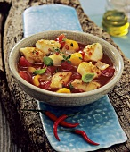 Andalusian fish soup with chillies