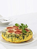 Vegetable pie (with tomatoes, courgettes and spinach)