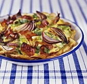 Potato and red onion bake