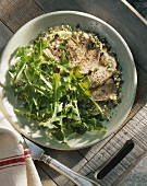 Veal tongue with rocket salad