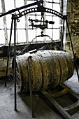 Old wooden barrel of Frapin Cognac