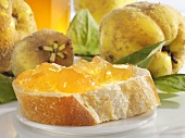 Quince jelly on bread
