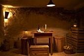 Romantic fruit cellar