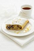 Almond and raisin roll