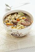 Polish flaki (tripe soup) with beef