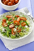 Rice, tomato and leek salad with mint