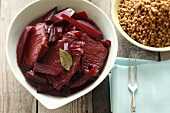 Pork and beetroot with buckwheat (Poland)