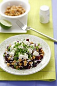 Chick-pea, rice and cranberry salad with feta