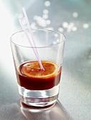 Orange punch in a glass
