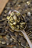 Pumpkin seeds in pumpkin seed oil
