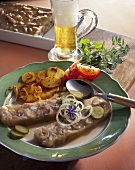 Knöcherlsülze (a type of brawn) with fried potatoes
