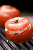 Tomato with cheese stuffing