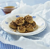Melomakarona (Greek cookies with honey and nuts)