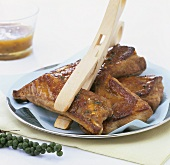 Spare ribs with apricot glaze