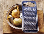 Onions with grater