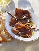 Carpaccio di tonno fresco (Tuna carpaccio, Italy)