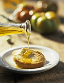 Crostino all'olio d'oliva (Toasted white bread with olive oil)