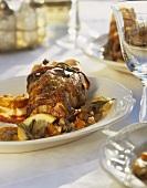 Piccioni alla ghiotta (Pigeon with chicken liver sauce, Italy)