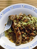 Lenticchie con salsicce (Lentils with sausage, Italy)