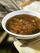 Farretto (Spelt soup, Italy)