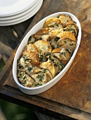 Porcini e patate al forno (Steinpilz-Kartoffel-Gratin)
