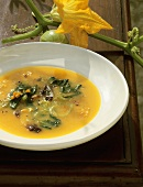 Zuppa frantoiana (Vegetable and herb soup), Tuscany, Italy