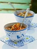Pappa al pomodoro ai gamberi (tomato and bread soup with prawns)