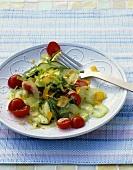 Insalata di sedano e bottarga (Celery salad with fish roe)