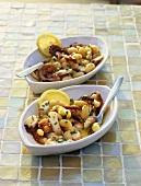Polpo e fagioli in insalata (Octopus & bean salad, Italy)