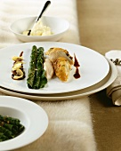 Capon breast with Swiss chard