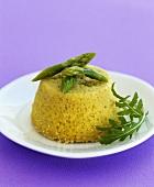 Savoury asparagus and ricotta flan