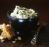 Fresh goat's cheese with pistachios (spread or dip)
