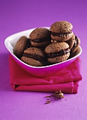 Almond macarons with chocolate filling