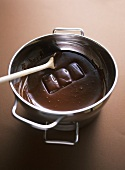 Tempering chocolate couverture