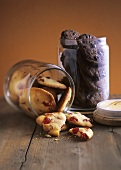 Cherry choc cookies and chocolate cookies